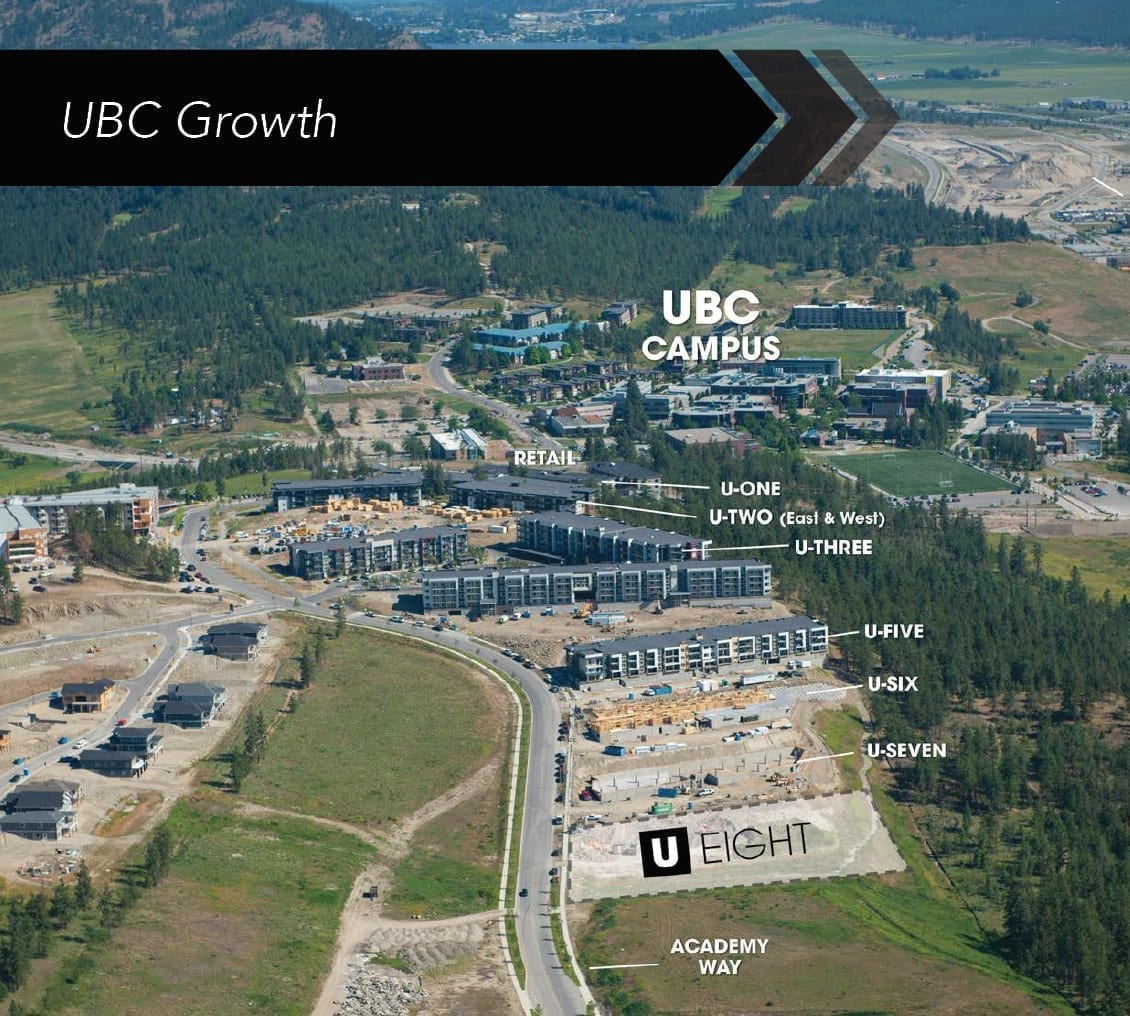 UBC Okanagan Campus UBCO Hot Investment Condo U8 Is Coming